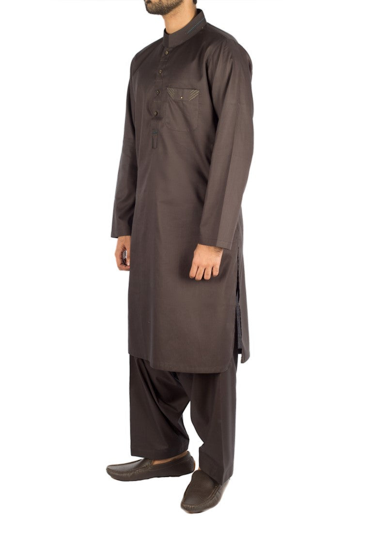 Image of Men Men Shalwar Qameez in Gun Metal SKU: RQ-16247-Small-Gun Metal