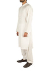Off White Suit with slight applique work. Product Code RQ-16254