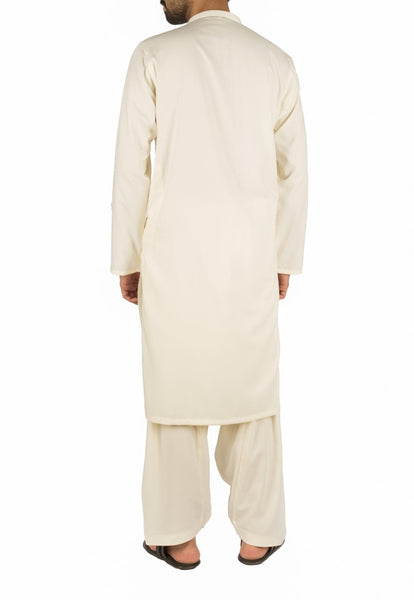 Bosky Cream Suit in blended fabric. Product Code RQ-16259