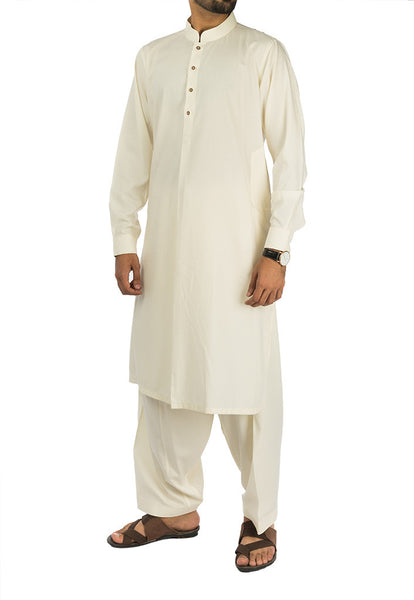 Cream colored Plain suit. RQ-16282