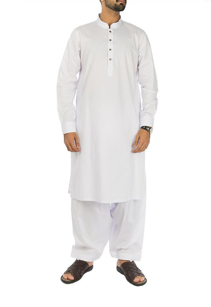 White Cotton Suit. RQ-17101