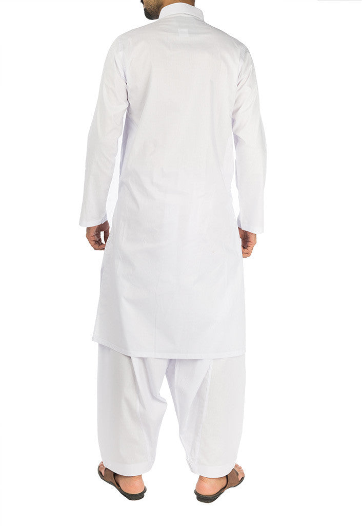 Basic White Cotton Suit. RQ-17107