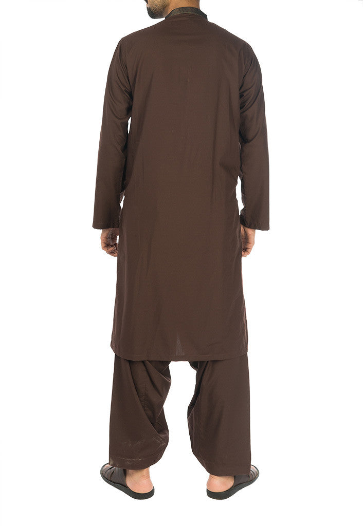 Basic Brown Shalwar Qameez. RQ-17112