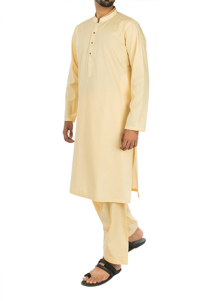 Image of Men Men Shalwar Qameez in Cool Yellow SKU: RQ-17115-Small-Cool Yellow