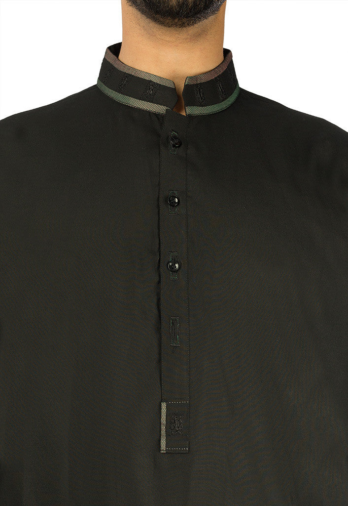 Image of Men Men Shalwar Qameez in Black SKU: RQ-17117-Small-Black