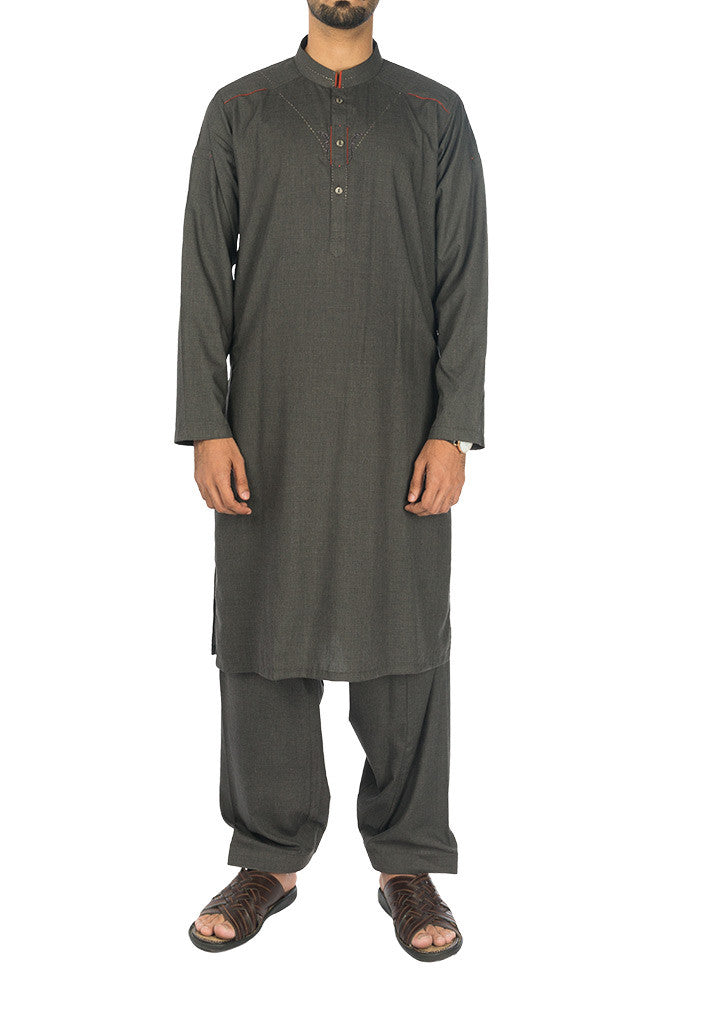 Image of Men Men Shalwar Qameez Mineral Grey Suit. RQ-17122