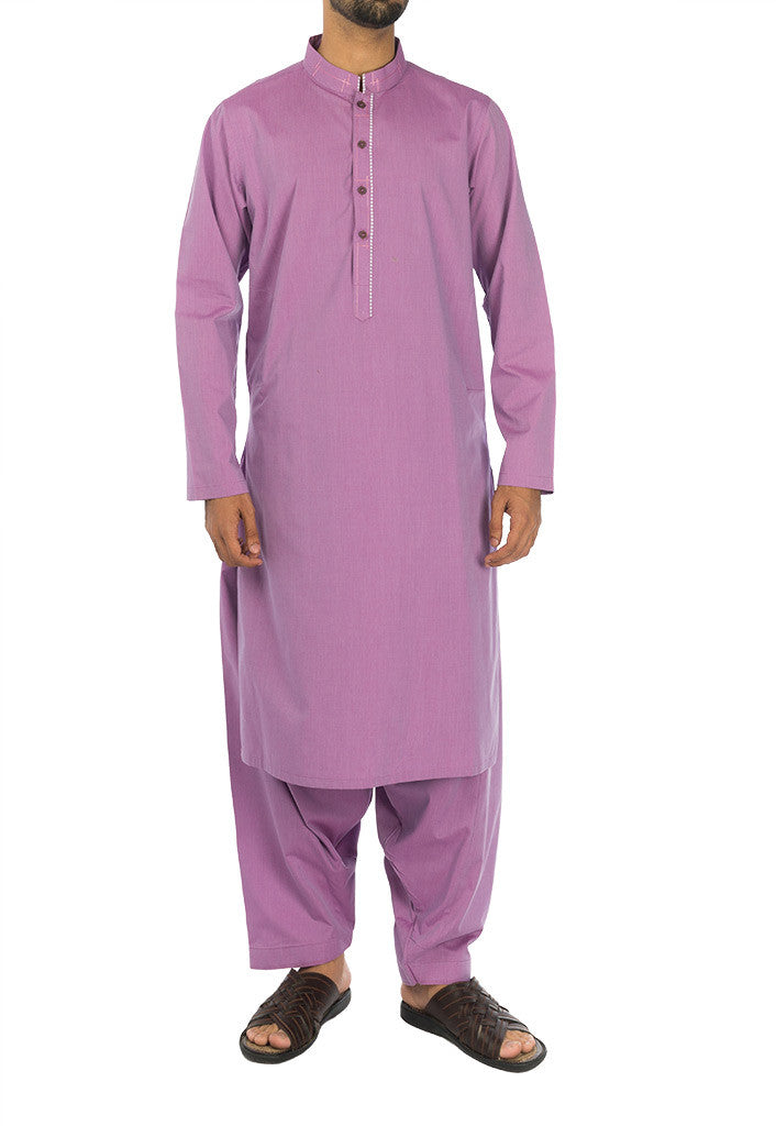 Image of Men Men Shalwar Qameez Orchid colored Shalwar Qameez Suit. RQ-17125