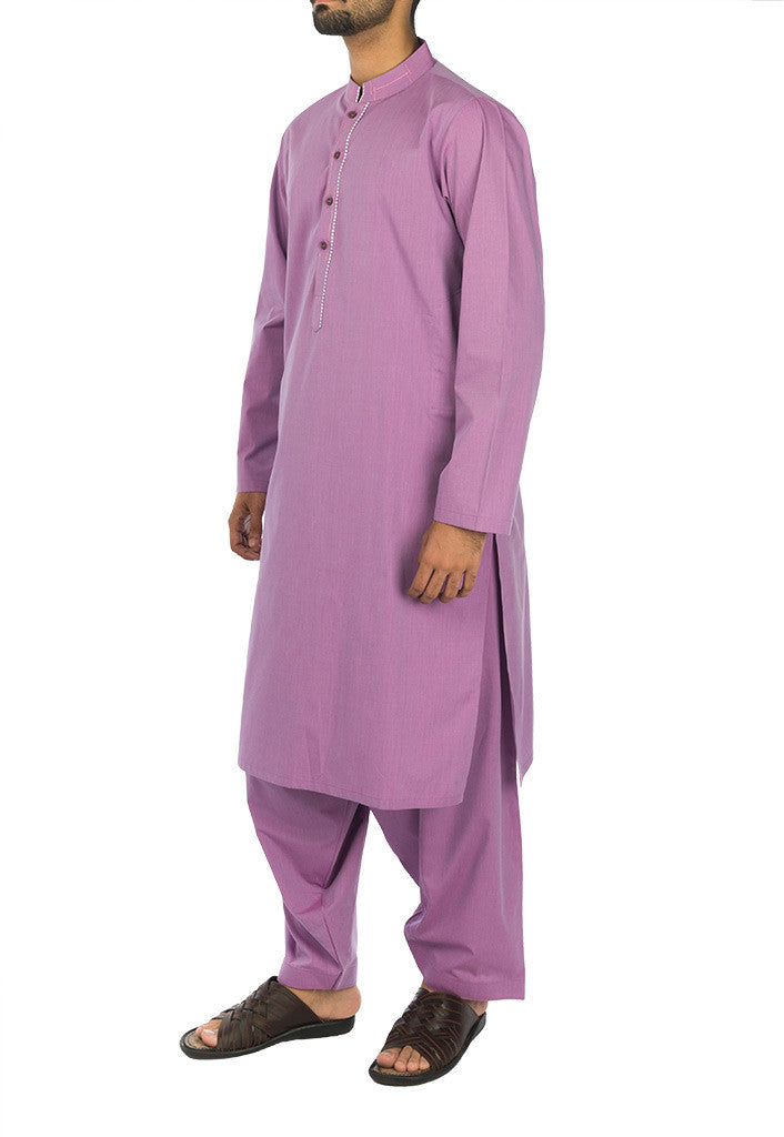 Orchid colored Shalwar Qameez Suit. RQ-17125