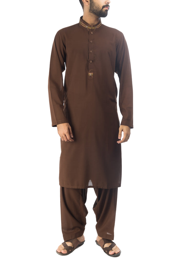Persian Brown  Shalwar Qameez Suit. RQ-17145