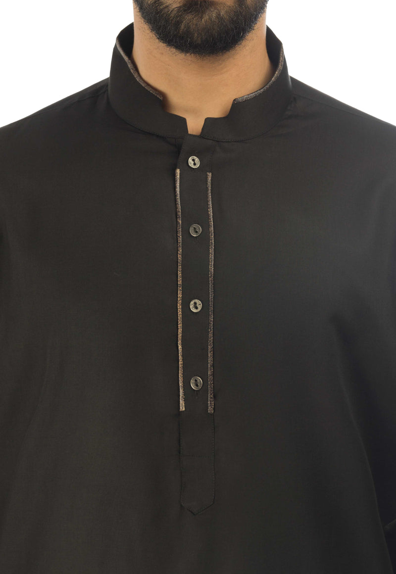 Image of Men Men Shalwar Qameez in Black SKU: RQ-17301-Small-Black