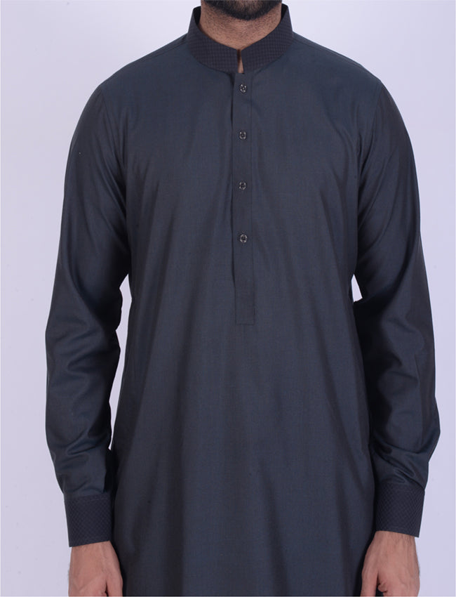 Image of Men Men Shalwar Qameez Pine Wood Shalwar Qameez Suit. RQ-39121
