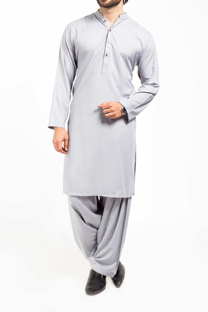 Basic Grey Shalwar Qameez Suit. RQ-39132