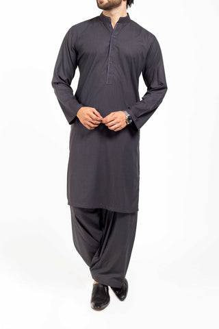 Image of Men Men Shalwar Qameez Brownish Blue Shalwar Qameez Suit. RQ-39151