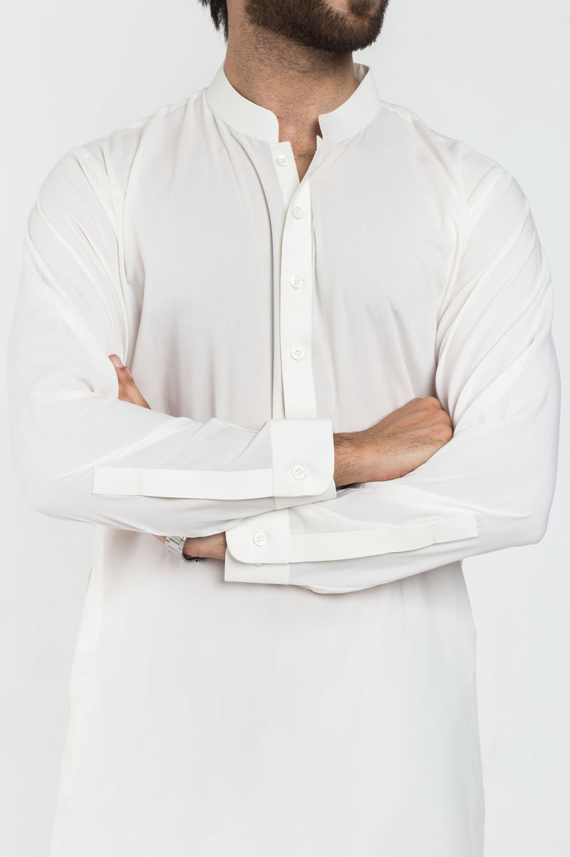 Image of Men Men Shalwar Qameez in Off White SKU: RQ-39167-Small-Off White