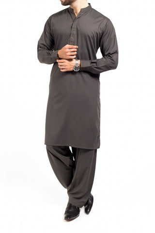 Dark Green Shalwar Qameez Suit. RQ-39207