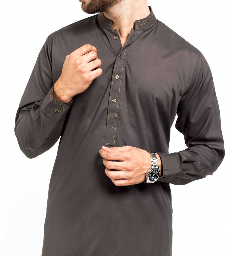 Image of Men Men Shalwar Qameez in Dark Green SKU: RQ-39207-Small-Dark Green