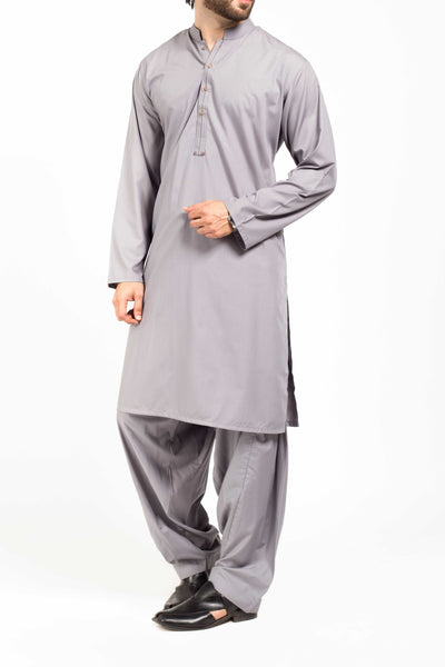 Light Grey Shalwar Qameez Suit. RQ-39209