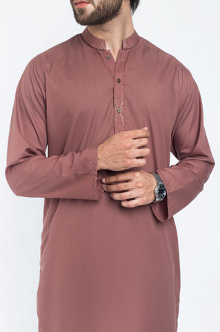 Walnut Brown Shalwar Qameez Suit. RQ-39221