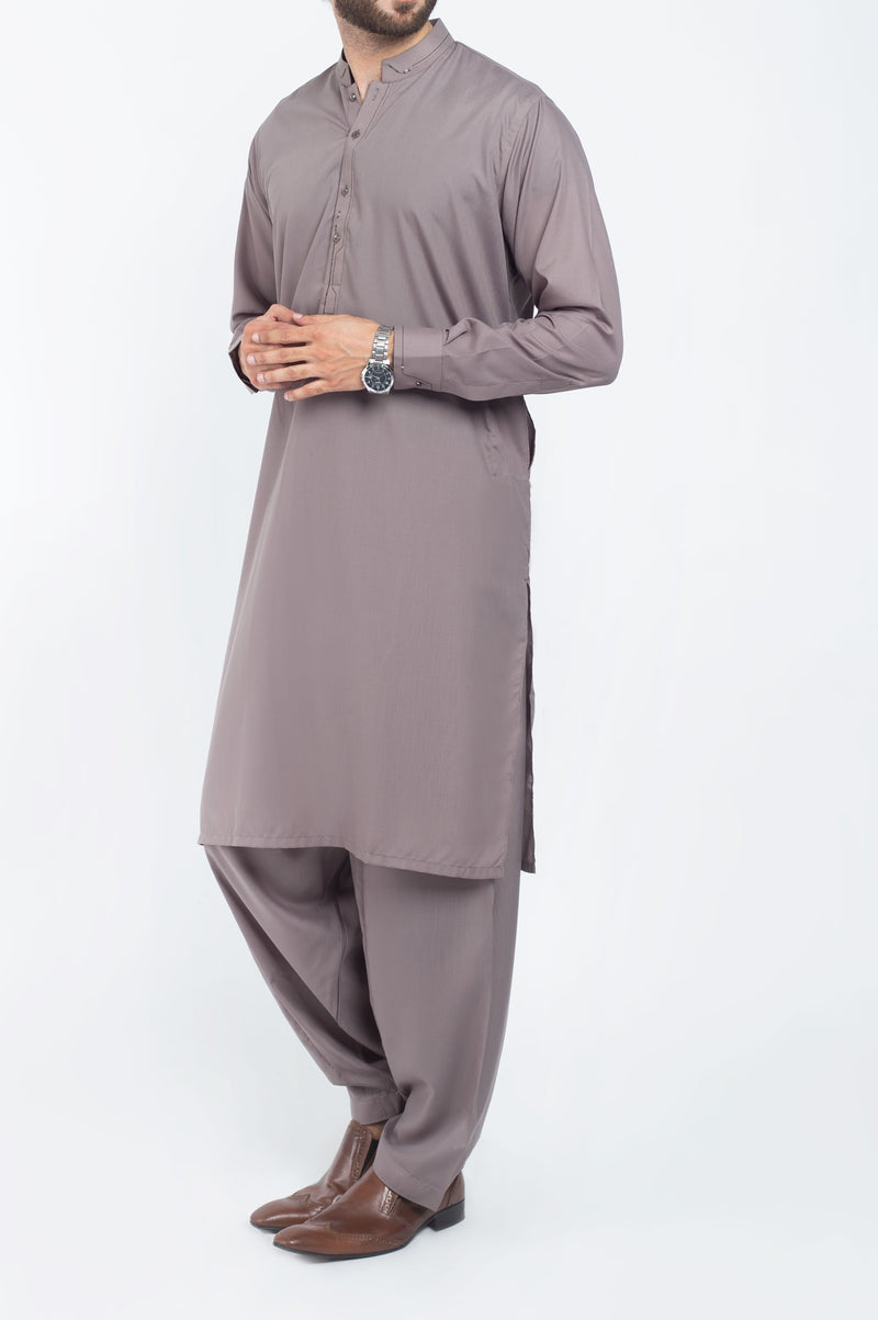 Shadow Grey Shalwar Qameez Suit. RQ-39225
