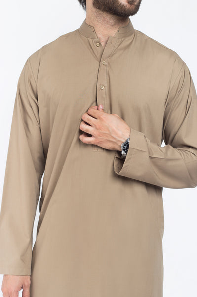 Lion Brown Shalwar Qameez Suit. RQ-39301