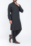 Image of Men Men Shalwar Qameez in Charcoal Grey SKU: RQ-39402-Small-Charcoal Grey