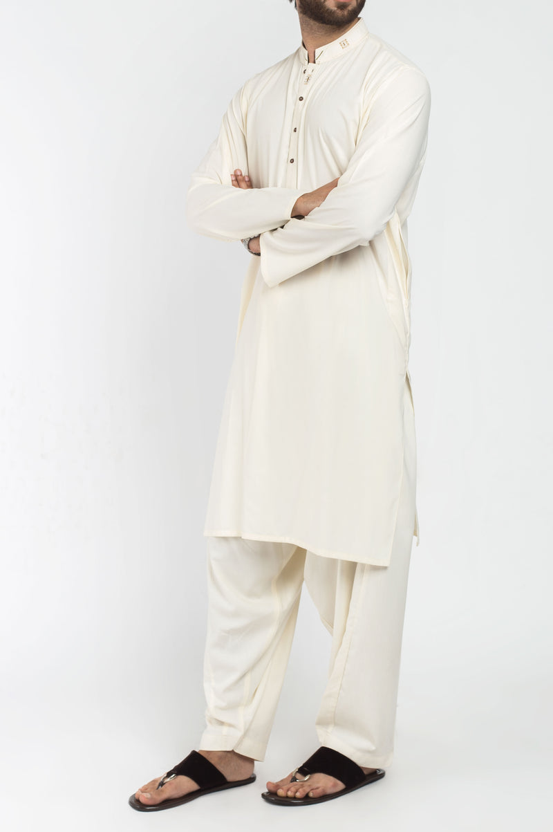 Image of Men Men Shalwar Qameez in Cream SKU: RQ-39403-Small-Cream