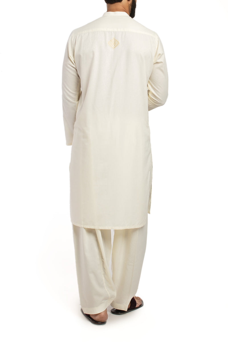 Image of Men Men Shalwar Qameez in Cream SKU: RQ-39439-Small-Cream