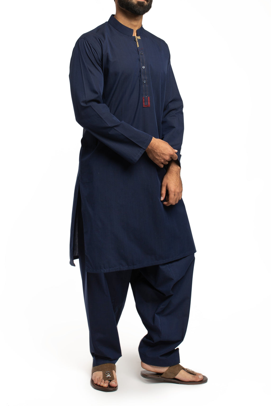 Image of Men Men Shalwar Qameez in Blue SKU: RQ-40172-Small-Blue