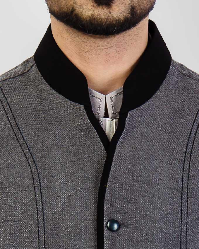 Elegance 1 - Grey Colored designer waist coat in suiting fabric Product Code: RWC-003