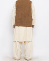 Decent -1 Camel Brown Colored in Suiting Fabric Waist  Coat Product Code: RWC-008