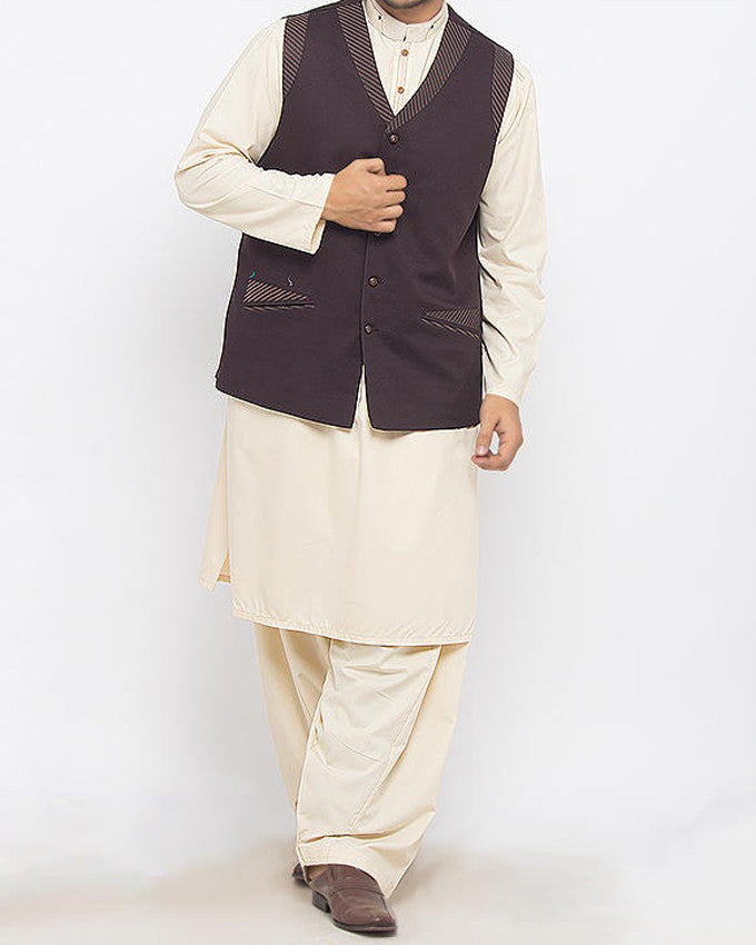 Image of Men Waist Coat Naqsh-1 Product Code: RWC-015