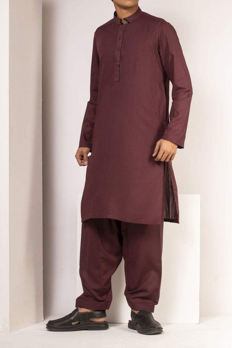 Maroon Qameez Shalwar for Teens BQ-41521