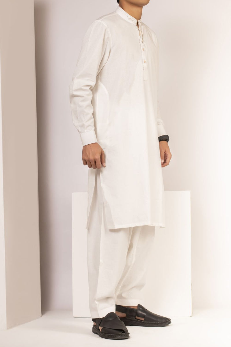 Off White Qameez Shalwar for Teens BQ-41519