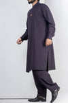 Navy Blue Shalwar Qameez For Men RQ-41119