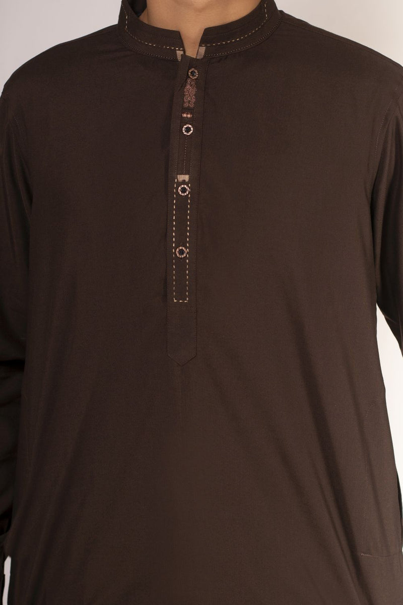 Dark Brown Qameez Shalwar for Teens BQ-41511