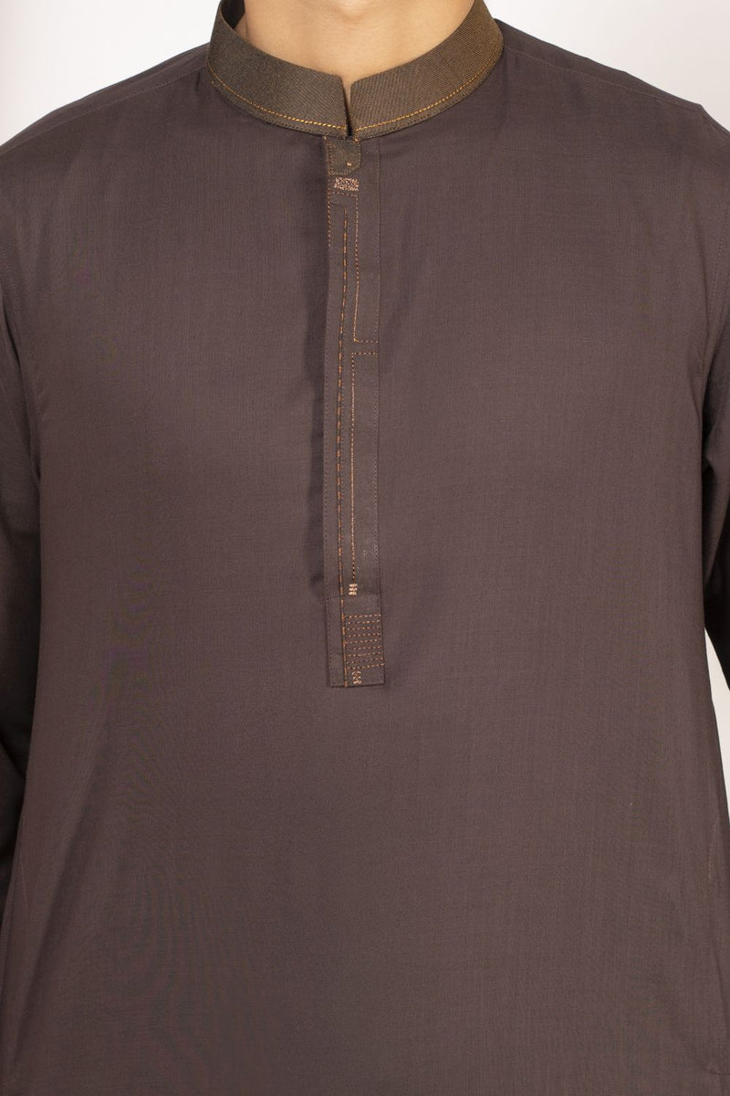 Dark Brown Qameez Shalwar for Teens BQ-41522