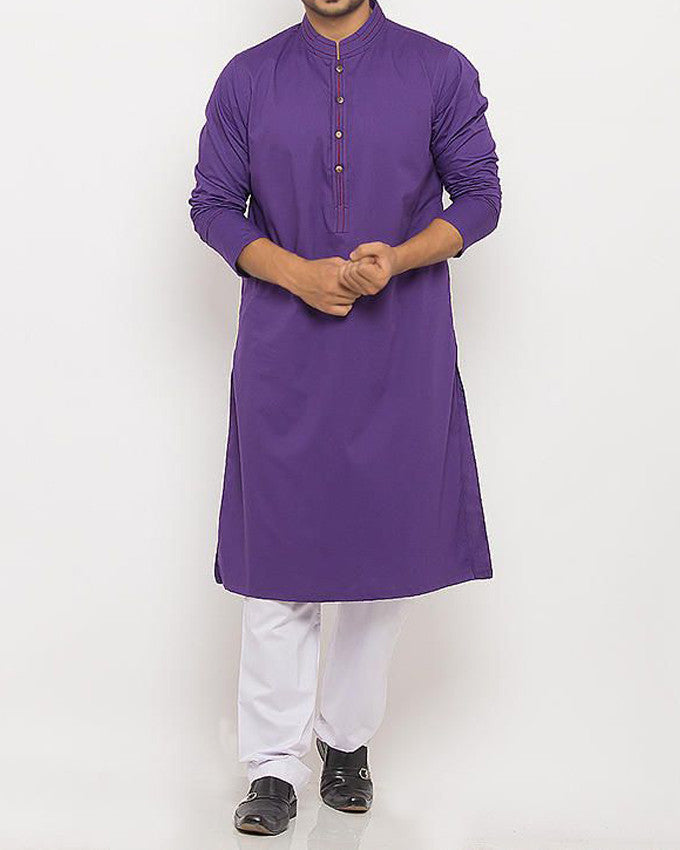 Image of Men Men Kurta in Basic Purple SKU: RK-15347-Small-Basic Purple