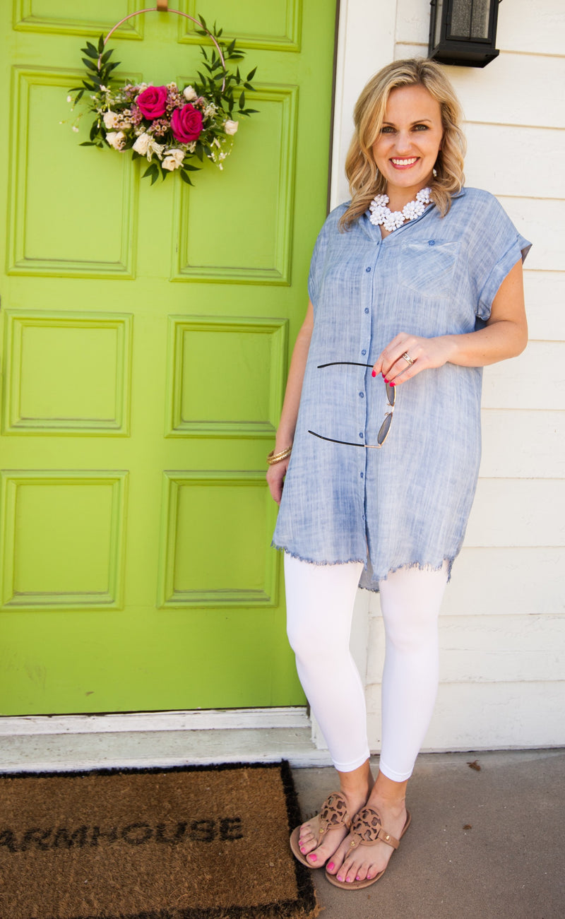 Denim Chambray Tunic