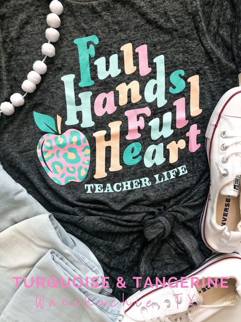 Full Hands Full Heart Burn Out T-Shirt