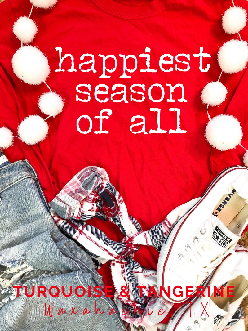 Happiest Season of All Comfort Colors Long Sleeve T-Shirt