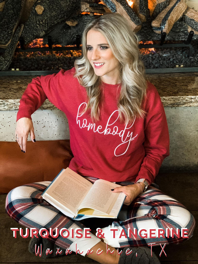 Homebody in Red Sweatshirt