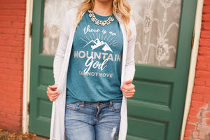 There is No Mountain God Cannot Move Graphic T-Shirt