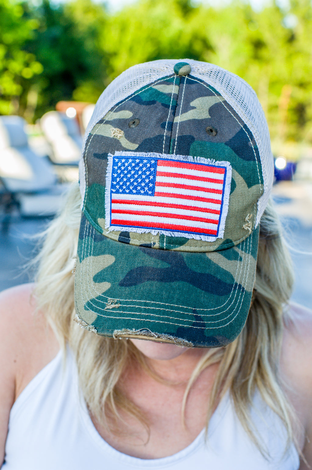 Distressed American Flag Hat