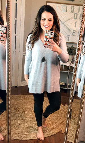 Lightweight Sweater in Heather Gray