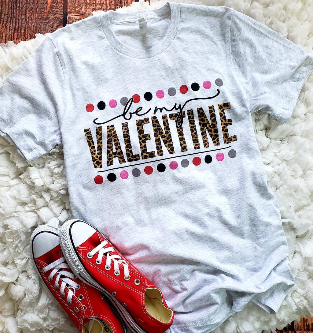Toddler Be My Valentine Dots T-Shirt