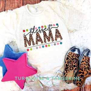 Blessed Mama Dots T-Shirt Preorder