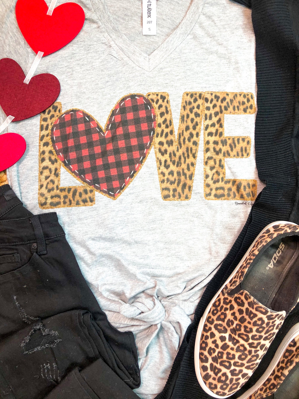 Leopard Love V-Neck T-Shirt