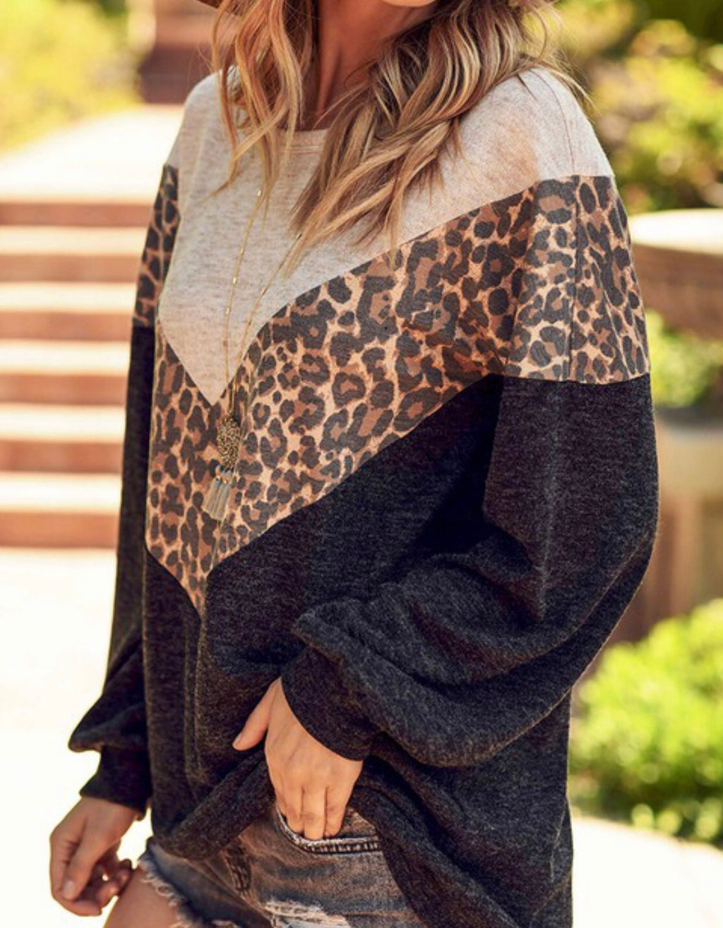 Oatmeal Leopard Lightweight Sweater