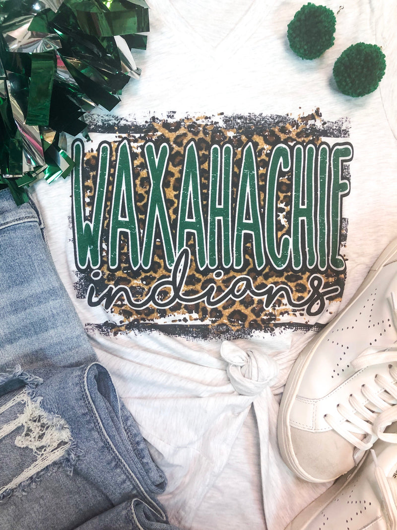 Leopard Waxahachie V-Neck T-Shirt PREORDER