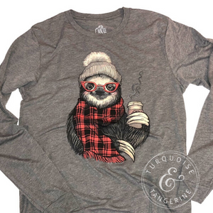 Long Sleeve Sloth Christmas Shirt